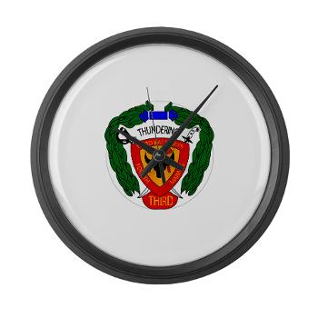 3B4M - M01 - 03 - 3rd Battalion 4th Marines - Large Wall Clock
