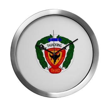 3B4M - M01 - 03 - 3rd Battalion 4th Marines - Modern Wall Clock