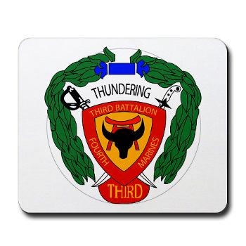 3B4M - M01 - 03 - 3rd Battalion 4th Marines - Mousepad