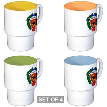 3B4M - M01 - 03 - 3rd Battalion 4th Marines - Stackable Mug Set (4 mugs)