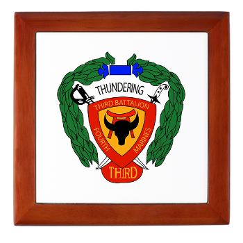 3B4M - M01 - 03 - 3rd Battalion 4th Marines Keepsake Box