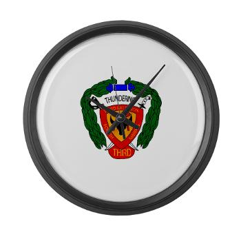 3B4M - M01 - 03 - 3rd Battalion 4th Marines Large Wall Clock