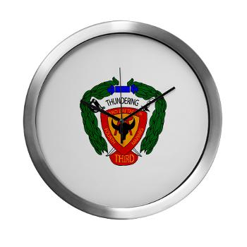 3B4M - M01 - 03 - 3rd Battalion 4th Marines Modern Wall Clock