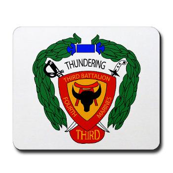 3B4M - M01 - 03 - 3rd Battalion 4th Marines Mousepad