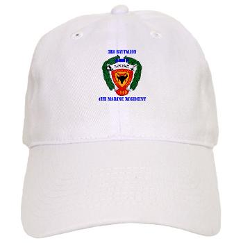 3B4M - A01 - 01 - 3rd Battalion 4th Marines with Text Cap