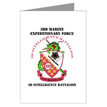 3IB - M01 - 02 - 3rd Intelligence Battalion - Greeting Cards (Pk of 10)