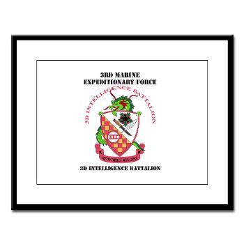 3IB - M01 - 02 - 3rd Intelligence Battalion - Large Framed Print