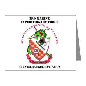 3IB - M01 - 02 - 3rd Intelligence Battalion - Note Cards (Pk of 20)