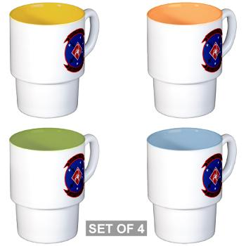 3LAADBn - M01 - 03 - 3rd Low Altitude Air Defense Bn - Stackable Mug Set (4 mugs)