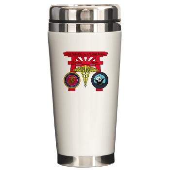 3MB - M01 - 03 - DUI - 3rd Medical Battalion with Text - Ceramic Travel Mug