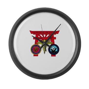 3MB - M01 - 03 - DUI - 3rd Medical Battalion - Large Wall Clock
