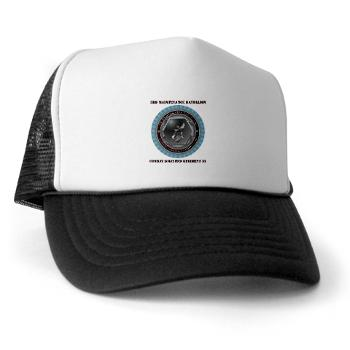 3MB35 - A01 - 02 - 3rd Maintenance Battalion with Text Trucker Hat