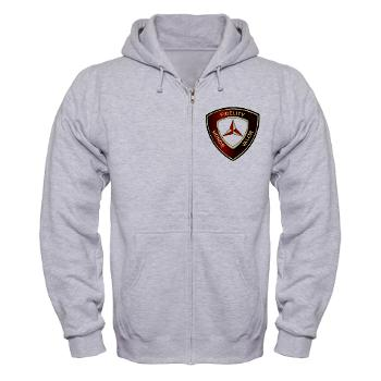 3MD - A01 - 03 - 3rd Marine Division - Zip Hoodie