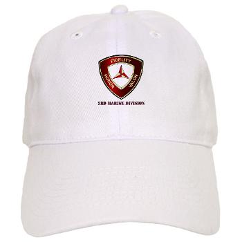 3MD - A01 - 01 - 3rd Marine Division with Text - Cap