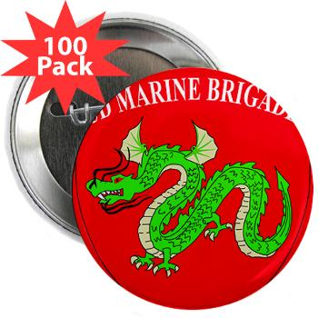 "3MEB - M01 - 01 - 3rd Marine Expeditionary Brigade 2.25"" Button (100 pack)"