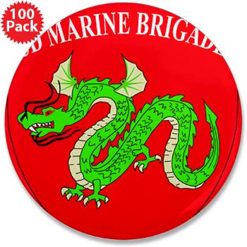 "3MEB - M01 - 01 - 3rd Marine Expeditionary Brigade 3.5"" Button (100 pack)"