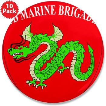 "3MEB - M01 - 01 - 3rd Marine Expeditionary Brigade 3.5"" Button (10 pack)"
