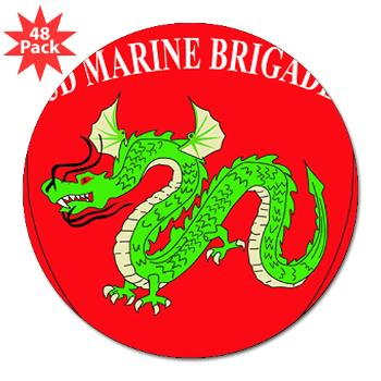 "3MEB - M01 - 01 - 3rd Marine Expeditionary Brigade 3"" Lapel Sticker (48 pk)"