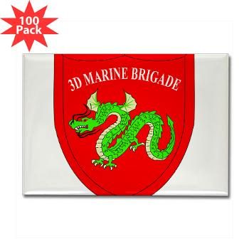 3MEB - M01 - 01 - 3rd Marine Expeditionary Brigade Rectangle Magnet (100 pack)