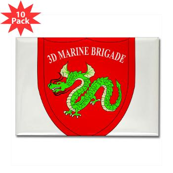 3MEB - M01 - 01 - 3rd Marine Expeditionary Brigade Rectangle Magnet (10 pack)