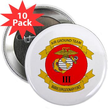 "3MEF - M01 - 01 - 3rd Marine Expeditionary Force with Text- 2.25"" Button (10 pack)"