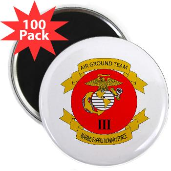 "3MEF - M01 - 01 - 3rd Marine Expeditionary Force with Text- 2.25"" Magnet (100 pack)"