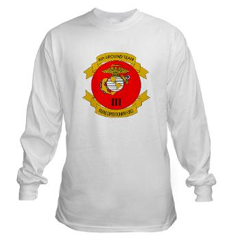 3MEF - A01 - 03 - 3rd Marine Expeditionary Force with Text- Long Sleeve T-Shirt