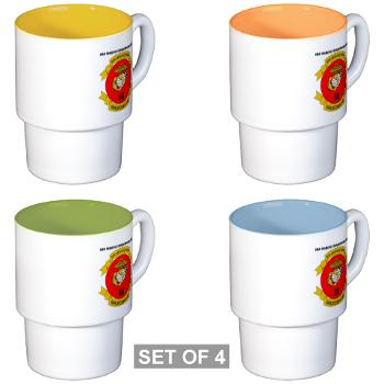 3MEF - M01 - 03 - 3rd Marine Expeditionary Force with Text- Stackable Mug Set (4 mugs)