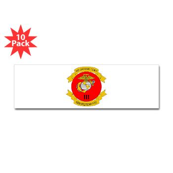 3MEF - M01 - 01 - 3rd Marine Expeditionary Force with Text- Sticker (Bumper 10 pk)