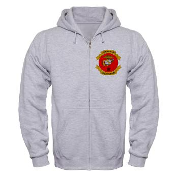 3MEF - A01 - 03 - 3rd Marine Expeditionary Force with Text- Zip Hoodie