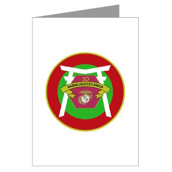 3MLG - M01 - 02 - 3rd Marine Logistics Group - Greeting Cards (Pk of 20)