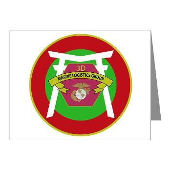 3MLG - M01 - 02 - 3rd Marine Logistics Group - Note Cards (Pk of 20)