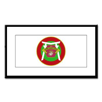3MLG - M01 - 02 - 3rd Marine Logistics Group - Small Framed Print