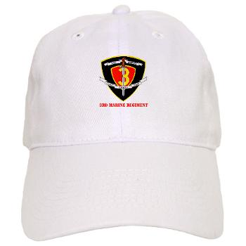 3MR - A01 - 01 - 3rd Marine Regiment with text Cap