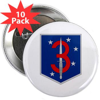 "3MSOB - M01 - 01 - 3rd Marine Special Operations Battalion - 2.25"" Button (10 pack)"