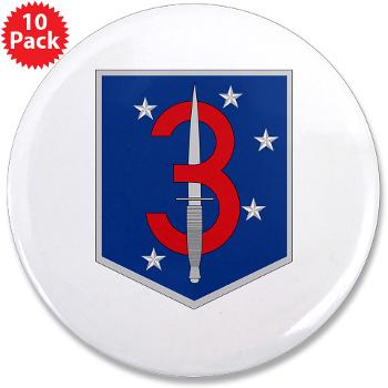 "3MSOB - M01 - 01 - 3rd Marine Special Operations Battalion - 3.5"" Button (10 pack)"