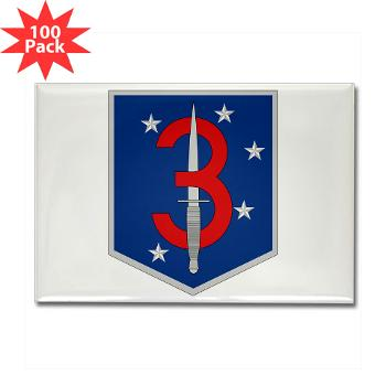 3MSOB - M01 - 01 - 3rd Marine Special Operations Battalion - Rectangle Magnet (100 pack)