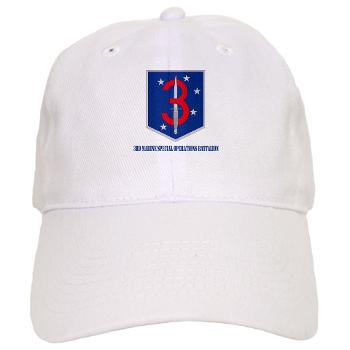 3MSOB - A01 - 01 - 3rd Marine Special Operations Bn with Text - Cap