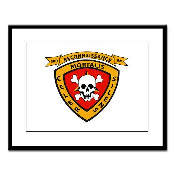 3RB - A01 - 01 - 3rd Reconnaissance Battalion - Large Framed Print