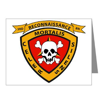 3RB - A01 - 01 - 3rd Reconnaissance Battalion - Note Cards (Pk of 20)