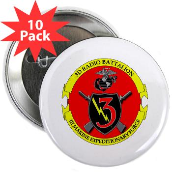 "3RBN - M01 - 01 - 3rd Radio Battalion - 2.25"" Button (10 pack)"