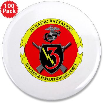 "3RBN - M01 - 01 - 3rd Radio Battalion - 3.5"" Button (100 pack)"