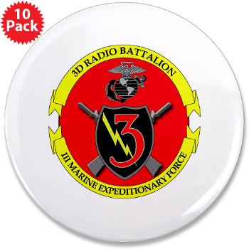 "3RBN - M01 - 01 - 3rd Radio Battalion - 3.5"" Button (10 pack)"