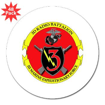 "3RBN - M01 - 01 - 3rd Radio Battalion - 3"" Lapel Sticker (48 pk)"