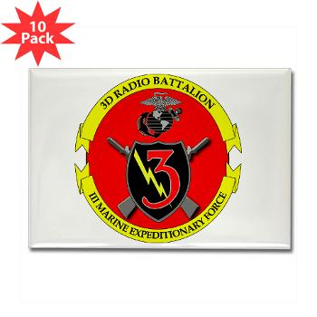 3RBN - M01 - 01 - 3rd Radio Battalion - Rectangle Magnet (10 pack)