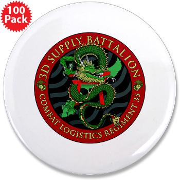 "3SB - M01 - 01 - 3rd Supply Battalion - 3.5"" Button (100 pack)"