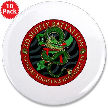 "3SB - M01 - 01 - 3rd Supply Battalion - 3.5"" Button (10 pack)"