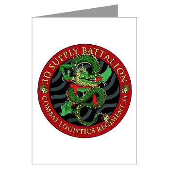 3SB - M01 - 02 - 3rd Supply Battalion - Greeting Cards (Pk of 10)