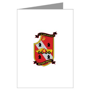 4LARB - M01 - 02 - 4th Light Armored Reconnaissance Battalion - Greeting Cards (Pk of 10)