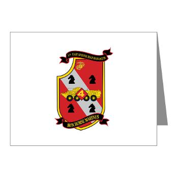 4LARB - M01 - 02 - 4th Light Armored Reconnaissance Battalion - Note Cards (Pk of 20)